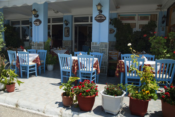 Restaurant in Sami on the island of Kephalonia Greece