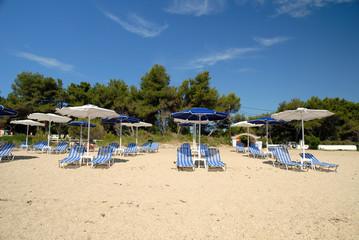 The Beach at Skala on the island of Kephalonia Greece