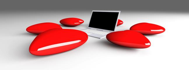 Verliebter Laptop