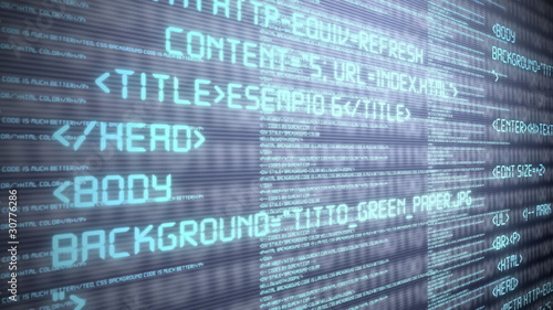 Html Code Background Stock