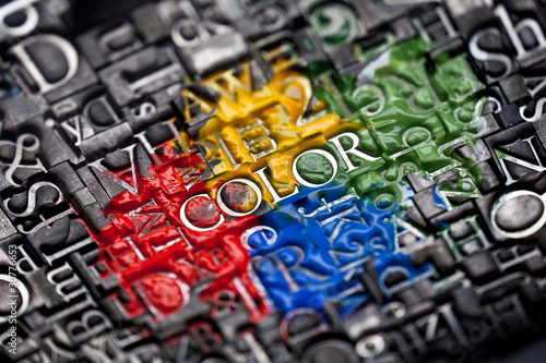Leinwanddruck Bild color