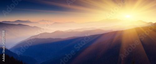 canvas print picture mountain landscape