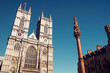 Westminster Abbey in afternoon summer sun.