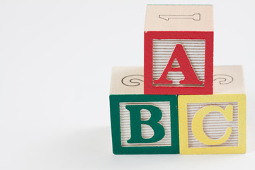 ABC Blocks with White Space