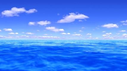 ocean with still sky