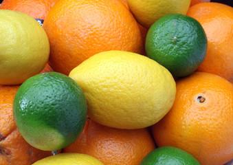 Citruses: lime, lemon and orange