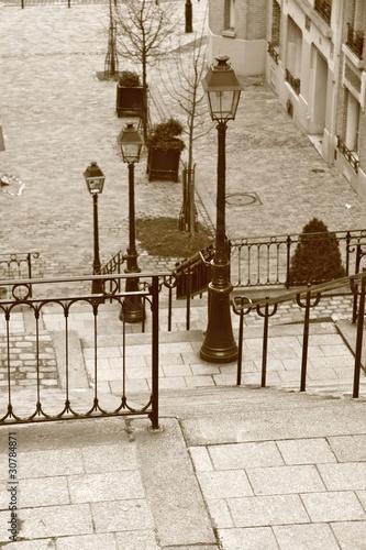 Escalier de Montmartre, Paris, France - 30784871