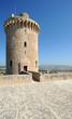 Terrasse du château de Bellver à Palma de Majorque