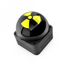 Buzzer mit Symbol für Radioaktivität