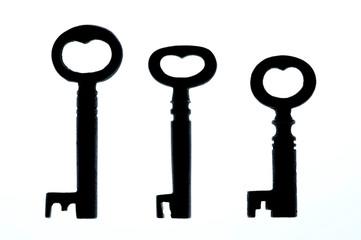ハート型のアンティークキー