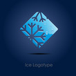 Logo Ice on blue background # Vector
