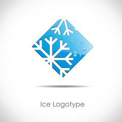 Logo Ice on white background # Vector