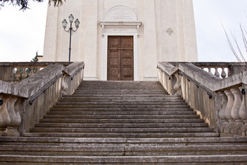 stairs to church