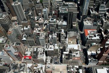 Overhead view of New York City - NYC Bird's Eye