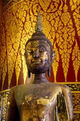 Golden Buddha made of wood, Wat pha nan choeng temple, Ayutthaya