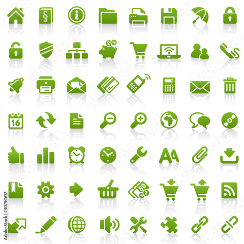 56 Green Website Icons