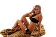sexy girl sitting on rug