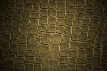 brown crocodile leather imitation texture .