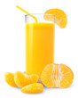Tangerine juice isolated on white
