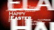 Happy easter tag cloud animation international language