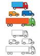 transport fleet illustrated icons
