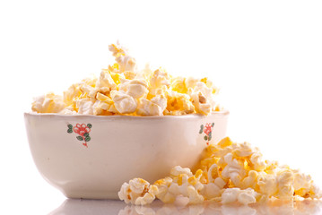 Bowl of Popcorn Snack Food