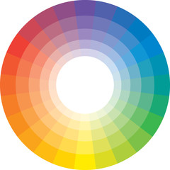 Multicolour Spectral Circle of 24 segments