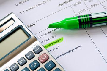 Finanzvermögen Taschenrechner Börse Investment