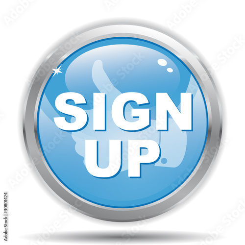 """SIGN UP ICON"" Stock image and royalty-free vector files ..."