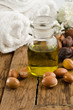 argan oil with fruits