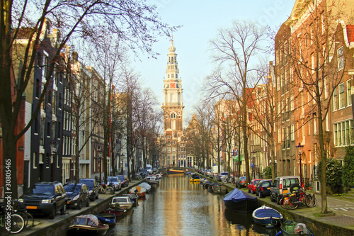 Amsterdam with the Zuiderkerk in the Netherlands