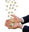 Gestenserie- Geld-Hand