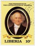 8th president of USA Martin Van Buren poster