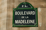 boulevard de la Madeleine poster