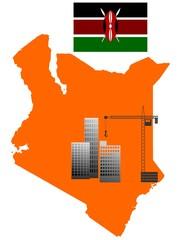 construction in  Kenya. vector