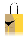 Shopping bag design - bikini bottom poster