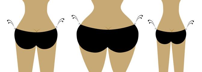 Bikini bottom for your design, view back