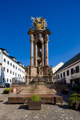 baroque column of Saint Trinity, Saint Trinity Square, Banska St