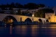 Saint-Bénézet bridge, Avignon at night, Provence, France