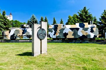 armored train,memorial Slovak National Uprising,Zvolen,Slovakia