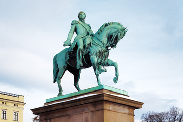 Statue of King Carl XIV Johan in Oslo, Norway