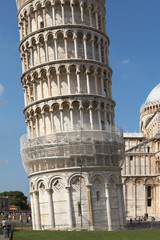 Italy, Pisa. Leaning Tower in the Campo dei Miracoli