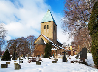 Gamle Aker Kirke - The oldest Church in Oslo, Norway