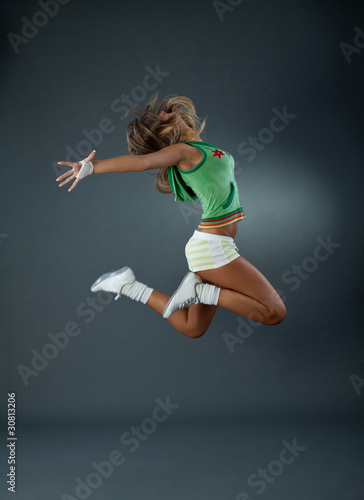 modern ballet dancer jumping