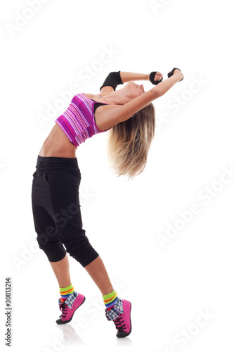 modern woman style dancer posing