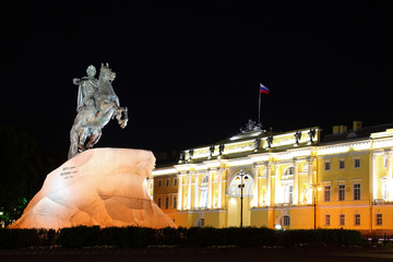 """Bronze Horseman"" - monument to Peter Great (Saint-Petersburg)"