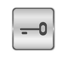 Chrome secure button vector
