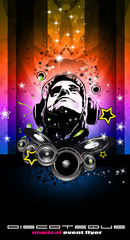 Disco Backgorund for Music Event flyers