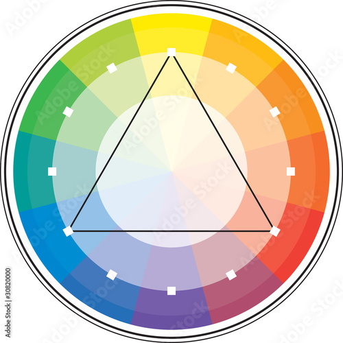 Multicolor spectral circle and its triangle scheme