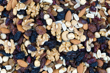 Mix of dried nuts and fruits